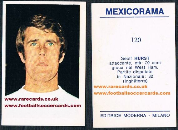 1970 Geoff Hurst Mexicorama card